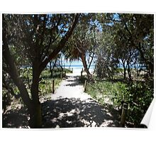 Path to the Beach Paradise. Poster