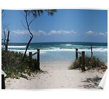 Beach Entrance Paradise. Poster