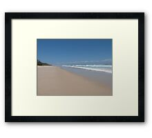 Beach View with Clouds - Paradise. Framed Print
