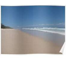 Beach View with Clouds - Paradise. Poster