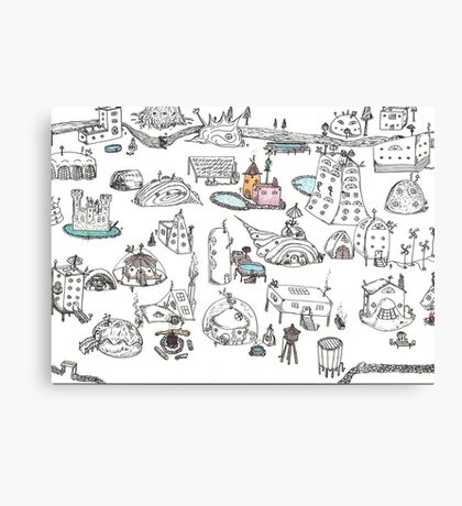 Beach House Brainstorming Canvas Print