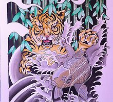 Tiger and the Gold fish by declantransam