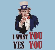 Uncle Sam I Want You (Yes You) Vector by SteliosPap92