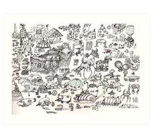 Brainstorming 7-10-2013 - 7-17-2013 Art Print
