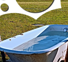 Outdoor pool | conceptual photography Sticker