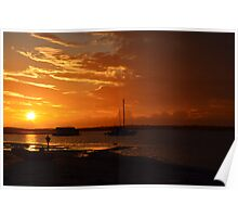 Sunset at Burrum Heads II Poster