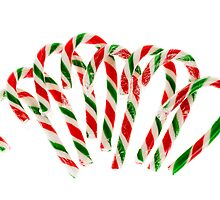 Candy canes by Elena Elisseeva