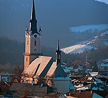 City church in winter wonderland | landscape photography by Patrick Jobst
