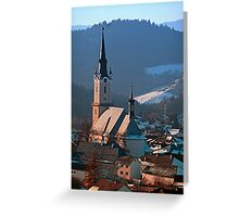 City church in winter wonderland | landscape photography Greeting Card