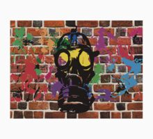 Gasmask on Wall by iansoca