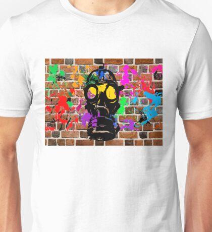 Gasmask on Wall Unisex T-Shirt