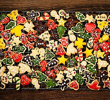 Homemade Christmas cookies by Elena Elisseeva