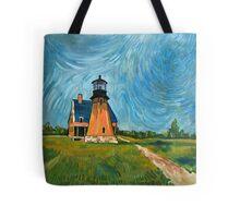 Block Island Lighthouse Tote Bag