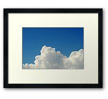 Cumulonimbus clouds in blue sky Framed Print