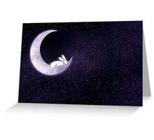 Sleeping Rabbit in the Moon Greeting Card