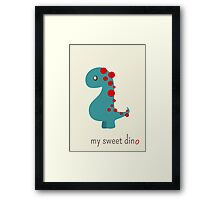 My sweet dino Framed Print
