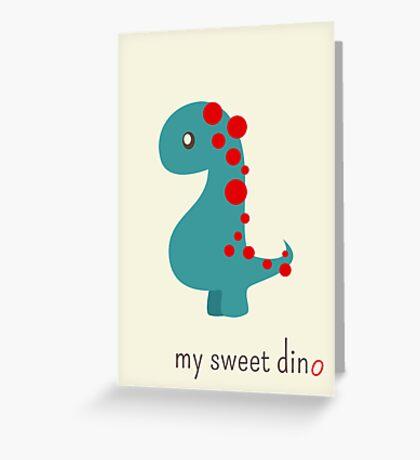 My sweet dino Greeting Card