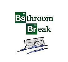 Bathroom Break Photographic Print