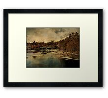 Sturgeon Pool Dam Rifton NY  Framed Print