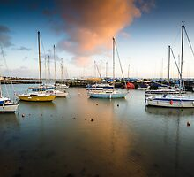 Sunset at Titchfield Harbour, England. UK by Heidi Stewart