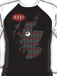 Scottish Independence Aye Map T-Shirt T-Shirt