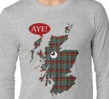 Scottish Independence Aye Map T-Shirt Long Sleeve T-Shirt