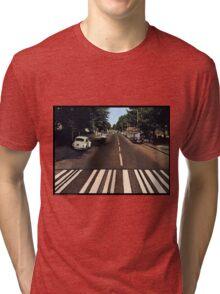 Blank Abbey road - no beatles Tri-blend T-Shirt