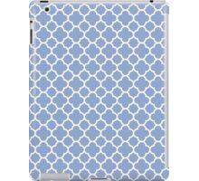 Serenity Blue Trendy Color Quatrefoil Pattern iPad Case/Skin
