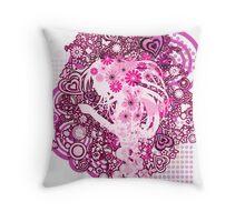 Floral_Flow Throw Pillow
