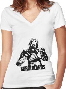 Psycho - Borderlands Women's Fitted V-Neck T-Shirt