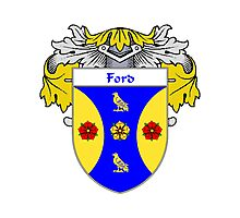 Ford Coat of Arms/Family Crest Photographic Print