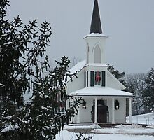Church and the Cedar Tree by PicsbyJody