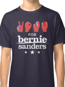 Vote Bernie - Deaf for Bernie Sanders (Sign Language) Fundraising Merchandise Classic T-Shirt