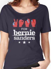 Vote Bernie - Deaf for Bernie Sanders (Sign Language) Fundraising Merchandise Women's Relaxed Fit T-Shirt