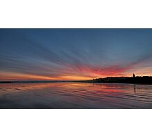 Sunrise over the beach at St Andrews, Scotland Photographic Print