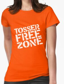 Tosser Free Zone Womens Fitted T-Shirt
