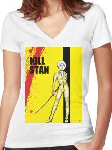 Bea a Day Kill Stan Golden Girls Shirt Women's Fitted V-Neck T-Shirt