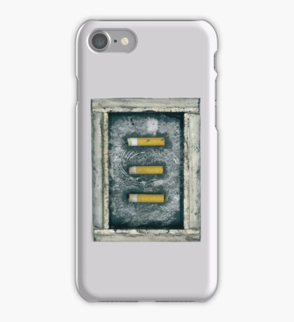 Assemblage #3 - Collected cigarettes iPhone Case/Skin