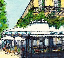Cafe de Flore, Paris by JackieSherwood