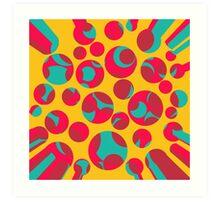 Psychedelic cheese Art Print