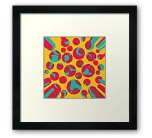 Psychedelic cheese Framed Print