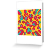 Psychedelic cheese Greeting Card