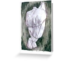 Study of a wrapped tree - Environmental art Greeting Card