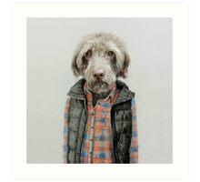 dog in shirt Art Print
