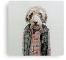 dog in shirt Metal Print
