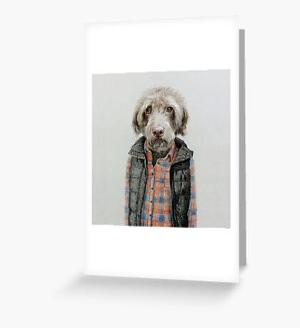 dog in shirt Greeting Card