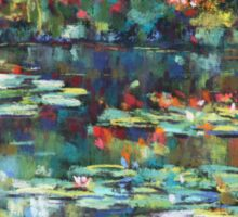 Monet garden reflections Sticker
