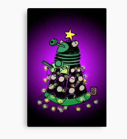 Christmas Dalek Canvas Print