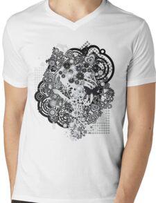 Floral_Flow Mens V-Neck T-Shirt