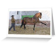 Andalusian Ground Work Horse  Greeting Card